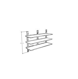 Wall triple shelves