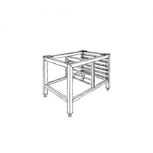 Stand for oven with guides